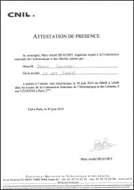 Expertise votes électroniques avec LE NET EXPERT - Fiche de présence CNIL